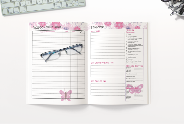 Social Media Workbook and Planner Templates