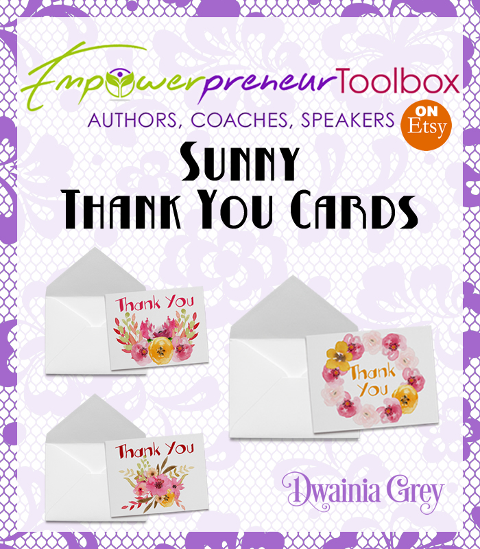 Water color Spring Thank You Cards