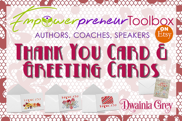 Empowerpreneur Seasonal Thank You Cards Now on Etsy