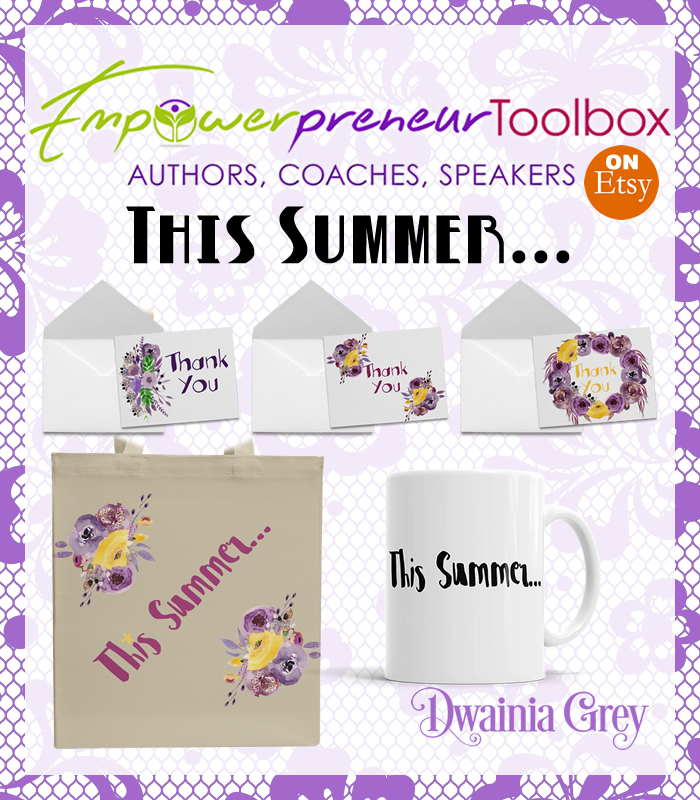 Summer Collection 2017 - Dwainia Grey - Tote bag, mug and thank-you cards