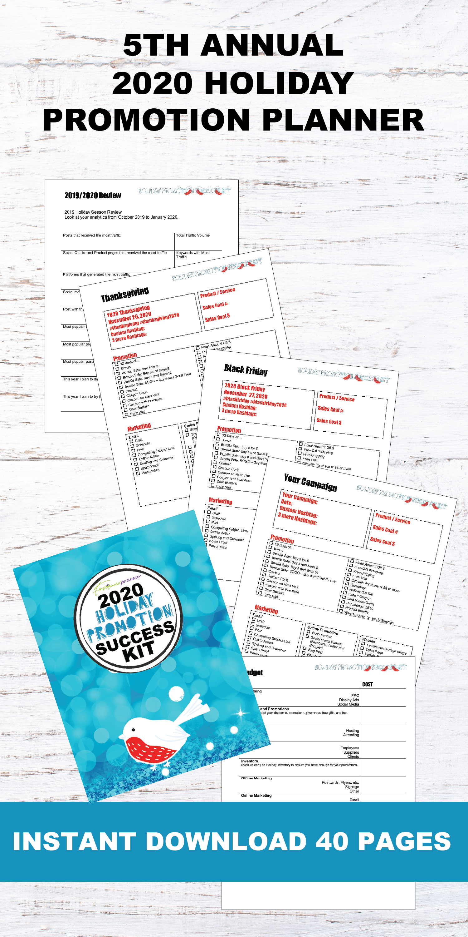 2020 Holiday Promotion Planner Pdf Dwainia Grey